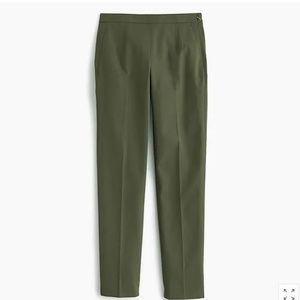 J. Crew Martie Slim Crop Pant in Stretch Cotton